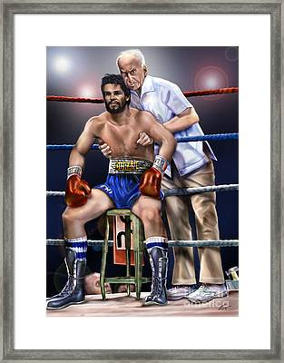 Duran Hands Of Stone 1a Framed Print by Reggie Duffie