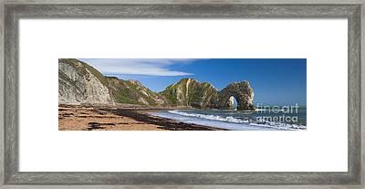 Durdle Door Dorset Uk Framed Print by Donald Davis