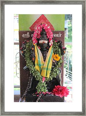 Durga At The Devi Temple, Leaving Kodaikanal Framed Print by Jennifer Mazzucco