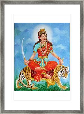 Durga Devi  Framed Print by Kalpana Talpade Ranadive