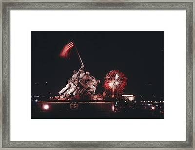 During Independence Day Celebrations Framed Print by Joseph H. Bailey