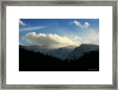 Dusk At Echo Lake Framed Print by Brian Gustafson