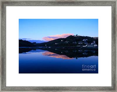 Dusk At Looe Framed Print by Carl Whitfield