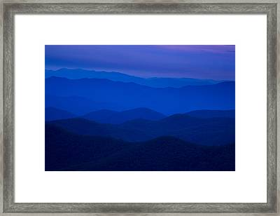 Dusk At The Blue Ridge Framed Print by Andrew Soundarajan