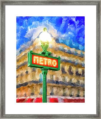 Dusk Done Parisian Style Framed Print by Mark Tisdale