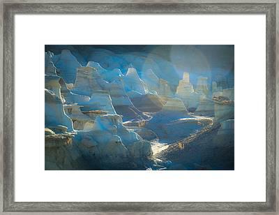 Dusk In The Badlands Framed Print by Veronika Countryman