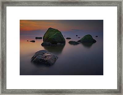 Dusk On Long Island Sound Framed Print by Rick Berk