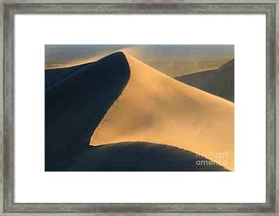 Dust In The Wind Framed Print by Mike Dawson