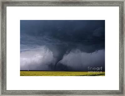Dusty Tornado Framed Print by Francis Lavigne-Theriault
