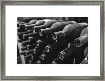 Dusty Wine Bottles Framed Print by Georgia Fowler