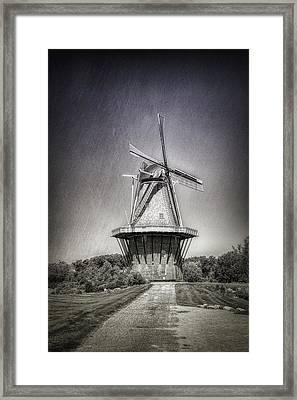 Dutch Windmill Framed Print by Tom Mc Nemar
