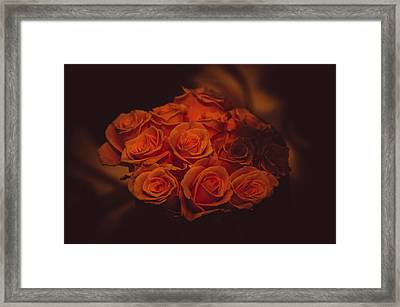 Dutch Yellow Roses Framed Print by Jenny Rainbow
