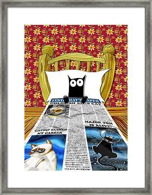 Duvet Cover Framed Print by Andrew Hitchen