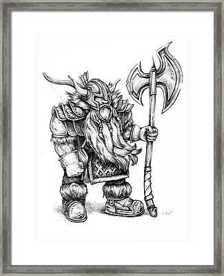 Dwarf Framed Print by Aaron Spong