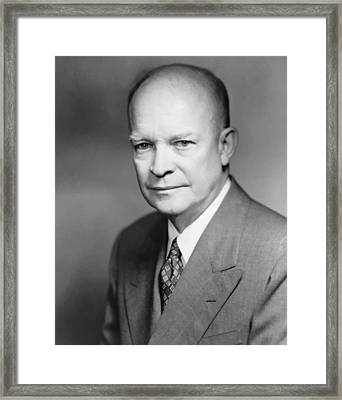 Dwight Eisenhower Framed Print by War Is Hell Store