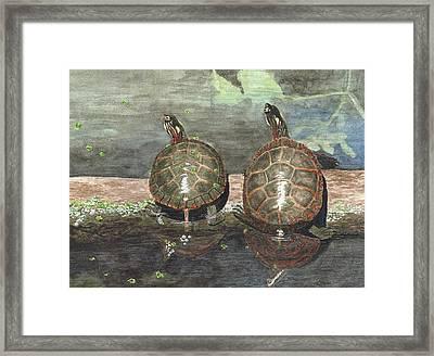 Dynamic Duo Framed Print by Deborah Brown Maher