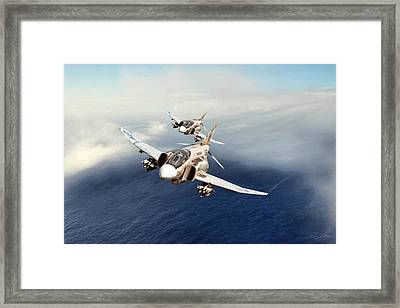 Dynamic Duo Framed Print by Peter Chilelli