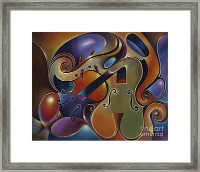 Dynamic Series Ix Violins Framed Print by Ricardo Chavez-Mendez