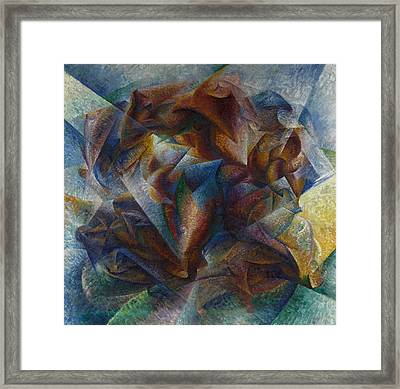 Dynamism Of A Soccer Player Framed Print by Umberto Boccioni