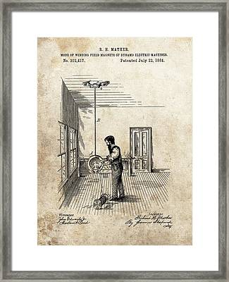 Dynamo Electric Machine Field Magnet Patent Framed Print by Dan Sproul