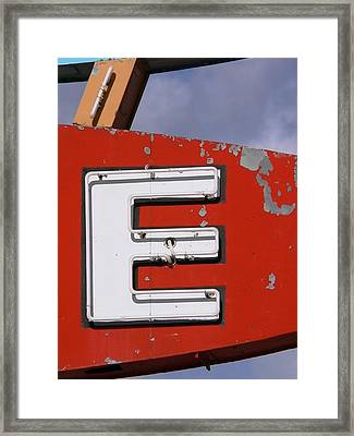 E Framed Print by David Gianfredi