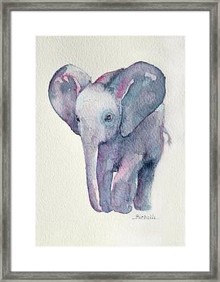 E Is For Elephant Framed Print by Richelle Siska