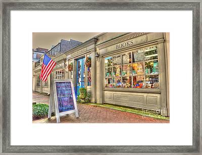 E. Shaver Bookseller Framed Print by Linda Covino