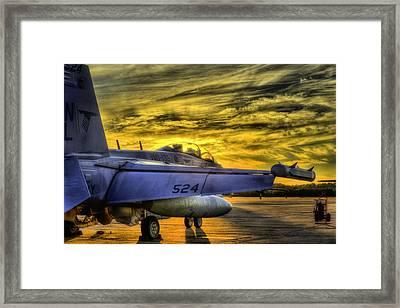 Ea-18g Growler Sunset Framed Print by JC Findley