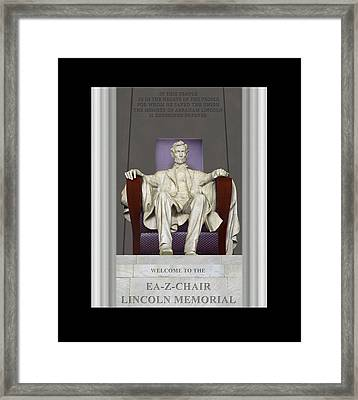 Ea-z-chair Lincoln Memorial Framed Print by Mike McGlothlen