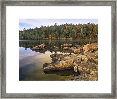 Eagle Lake Acadia National Park Maine Framed Print by Tim Fitzharris