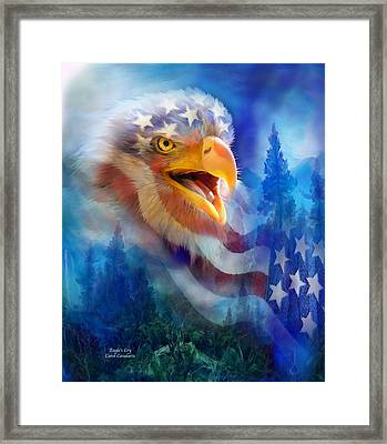 Eagle's Cry Framed Print by Carol Cavalaris