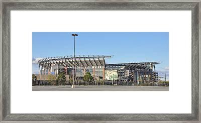 Eagles Football Stadium - The Linc Framed Print by Bill Cannon