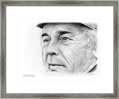 Earl Weaver Framed Print by Greg Joens