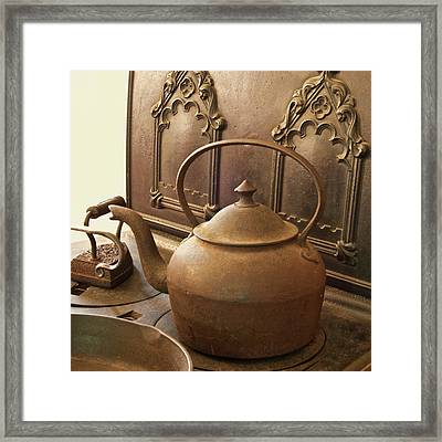 Early American Tea Pot Framed Print by Michael Peychich