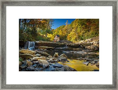 Early Autumn At Glade Creek Grist Mill 2 Framed Print by Shane Holsclaw