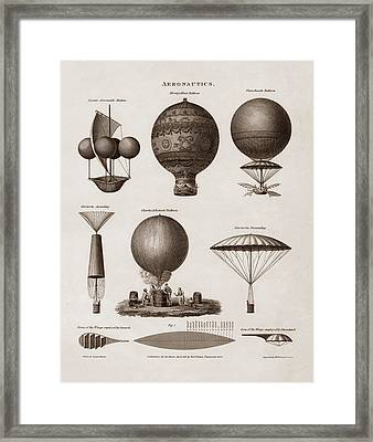 Early Balloon Designs Framed Print by War Is Hell Store