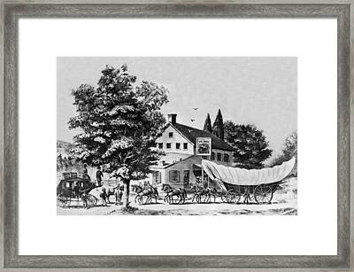 Early Days Of Travel Framed Print by Underwood Archives