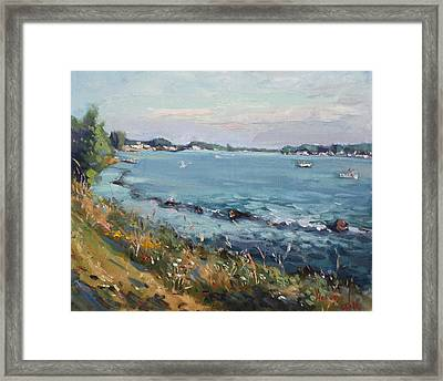 Early Evening At Gratwick Waterfront Park Framed Print by Ylli Haruni
