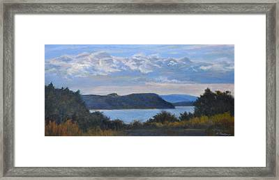 Early Evening Hudson River Framed Print by Phyllis Tarlow