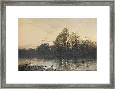 Early Evening Framed Print by Ludwig Hans