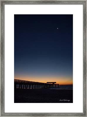 Early Light Tybee Island Pier Tybee Island Georgia Framed Print by Reid Callaway