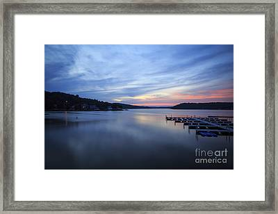 Early Morning At Lake Of The Ozarks Framed Print by Dennis Hedberg