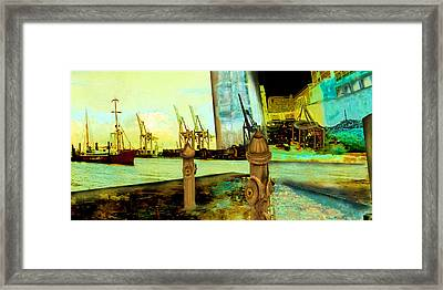 Early Morning At The Harbour Framed Print by Anne Weirich