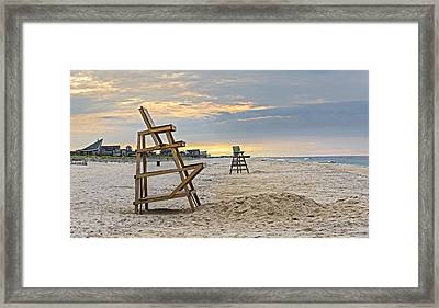 Early Morning Beach Framed Print by Alida Thorpe