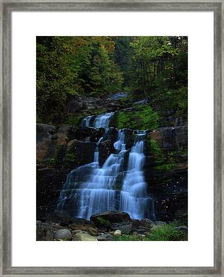 Early Morning Falls Framed Print by Karol Livote