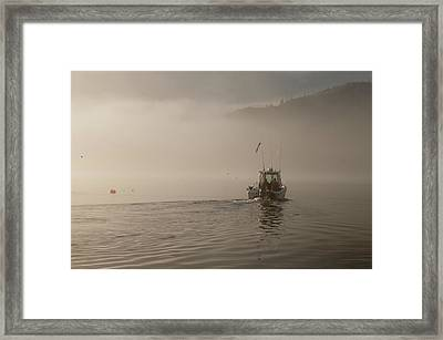 Early Morning Fishing Boat Framed Print by Chad Davis
