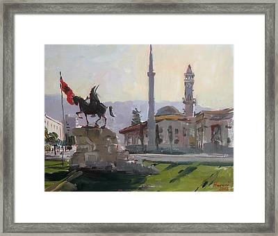 Early Morning In Tirana Framed Print by Ylli Haruni