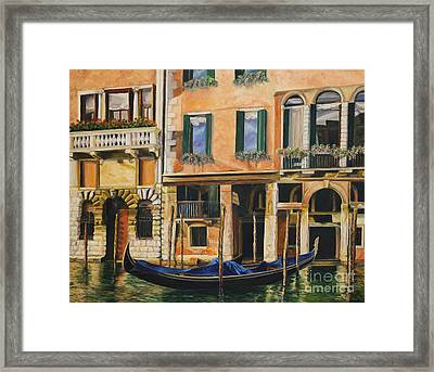 Early Morning In Venice Framed Print by Charlotte Blanchard