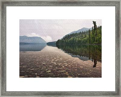 Early Morning On Lake Mcdonald II Framed Print by Sharon Foster