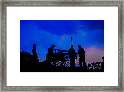 Early Morning On Little Round Top Framed Print by Randy Steele